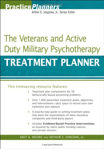 Veterans and Active Duty Military Psychotherapy Treatment Planner   2010 9780470440988 Front Cover