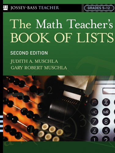 Math Teacher's Book of Lists  2nd 2005 (Revised) edition cover