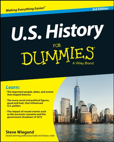 U. S. History for Dummies�  3rd 2014 edition cover