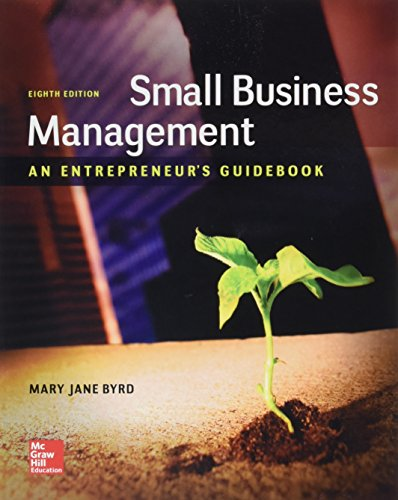 Small Business Management: An Entrepreneur's Guidebook  2017 9781259538988 Front Cover