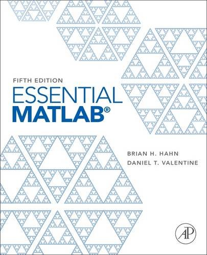 Essential MATLAB  5th 2012 edition cover