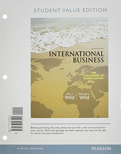 International Business The Challenges of Globalization 7th 2014 (Student Manual, Study Guide, etc.) edition cover