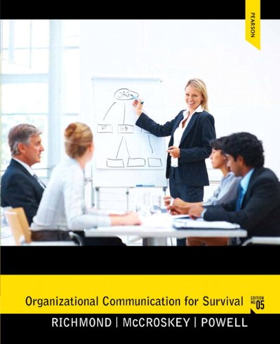 Organizational Communication for Survival  5th 2013 9780205861989 Front Cover