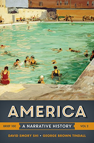 America: A Narrative History Volume 2 10th 2016 9780393265989 Front Cover