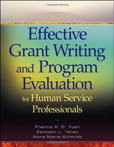 Effective Grant Writing and Program Evaluation for Human Service Professionals   2010 edition cover