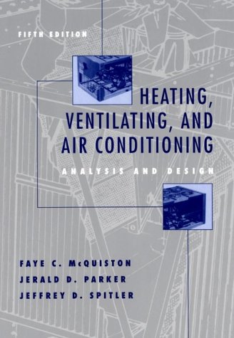 Heating, Ventilating, and Air Conditioning Analysis and Design 5th 2000 edition cover