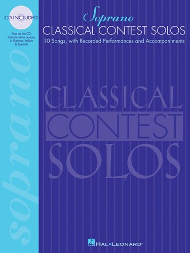 Classical Contest Solos - Soprano  N/A edition cover
