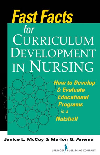 Fast Facts for Curriculum Development in Nursing How to Develop and Evaluate Educational Programs in a Nutshell  2013 edition cover