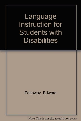 Language Instruction for Students with Disabilities  3rd 2004 edition cover