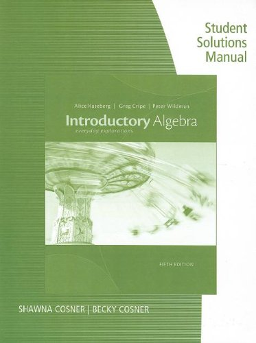 INTRODUCTORY ALGEBRA-STUD.SOLN N/A 9781133363989 Front Cover
