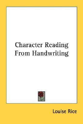 Character Reading from Handwriting N/A edition cover