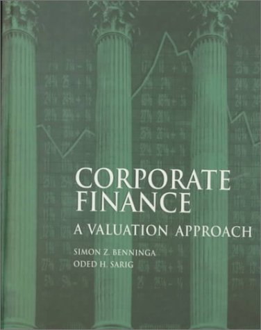 Corporate Finance A Valuation Approach  1997 edition cover