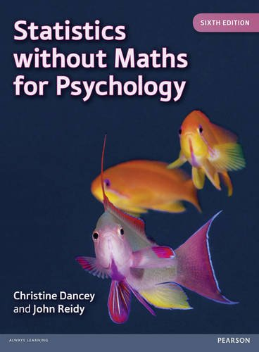 Statistics Without Maths for Psychology:  6th 2014 edition cover