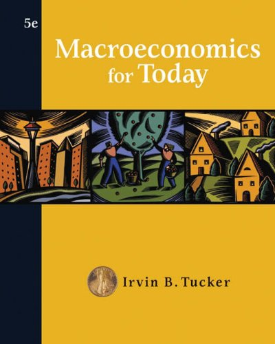 Macroeconomics for Today  5th 2008 edition cover