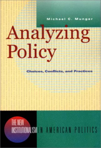 Analyzing Policy Choices, Conflicts and Practices  2000 edition cover