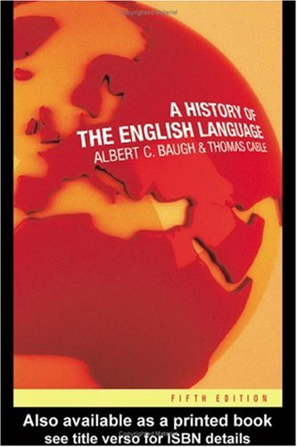 History of the English Language  5th 2002 (Revised) edition cover