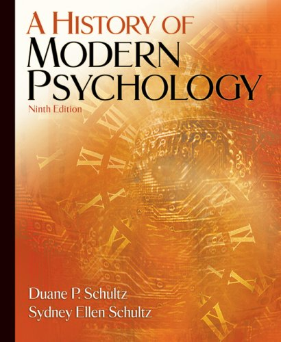 History of Modern Psychology  9th 2008 edition cover