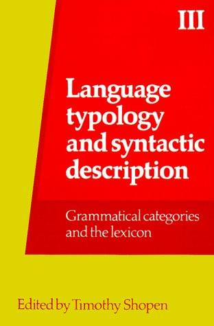 Language Typologyand Syntactic Description   1985 9780521318990 Front Cover