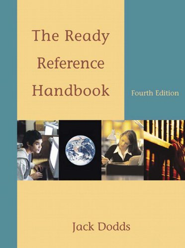 Ready Reference Handbook  4th 2006 edition cover