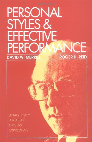 Personal Styles and Effective Performance   1981 edition cover