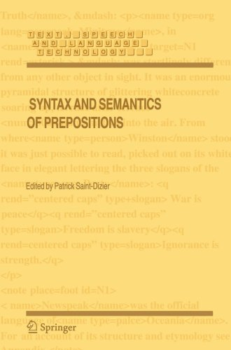 Syntax and Semantics of Prepositions   2006 9781402038990 Front Cover
