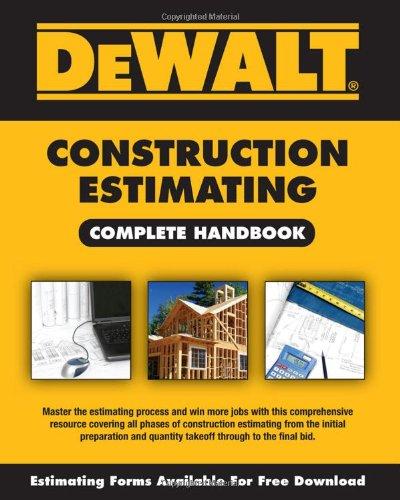 Dewalt Construction Estimating   2010 edition cover