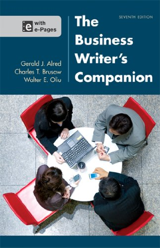 The Business Writer's Companion:   2013 edition cover