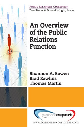 Overview to the Public Relations Function   2010 edition cover