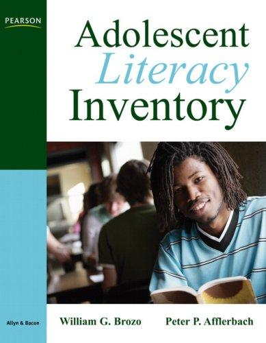 Adolescent Literacy Inventory, Grades 6-12   2011 edition cover