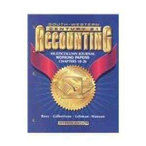 Accounting Multicolumn Journal Approach  7th 2000 9780538676991 Front Cover