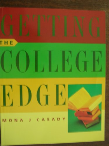 Getting the College Edge   2002 9780618134991 Front Cover