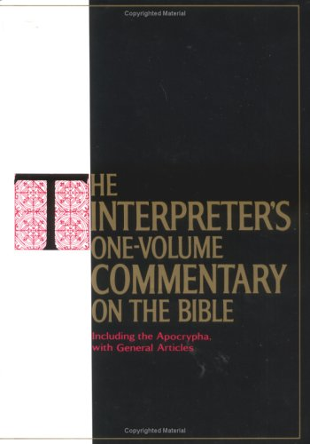 Interpreter's One-Volume Commentary on the Bible   1971 edition cover