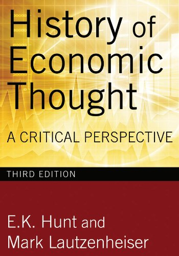 History of Economic Thought A Critical Perspective 3rd 2011 (Revised) edition cover