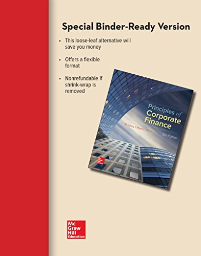 Principles of Corporate Finance:   2016 9781259718991 Front Cover