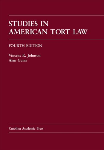 Studies in American Tort Law 4th 2009 edition cover
