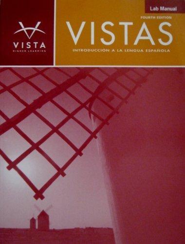 Vistas 4e Lab Manual  4th (Revised) edition cover