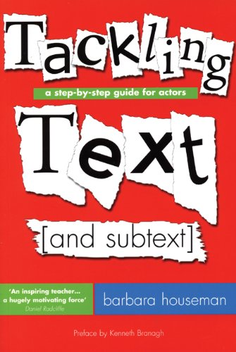 Tackling Text A Step-by-Step Guide for Actors  2008 edition cover