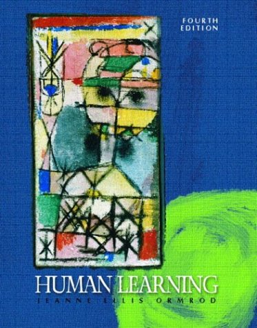 Human Learning  4th 2004 (Revised) edition cover