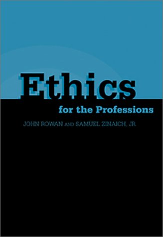 Ethics for the Professions   2003 edition cover