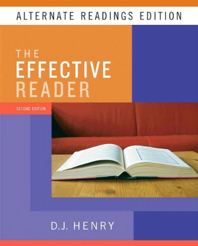 Effective Reader, the, Alternate Reading Edition (with MyReadingLab Student Access Code Card)  2nd 2010 9780205744992 Front Cover