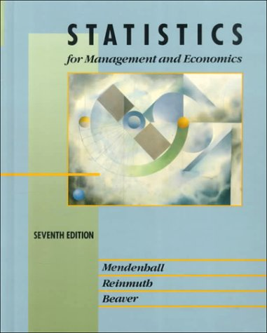 Statistics for Management and Economics  7th 1993 edition cover