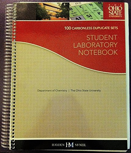 STUDENT LABORATORY NOTEBOOKS >CUSTOM<   N/A 9780738055992 Front Cover