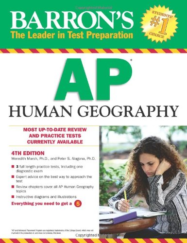 Barron's AP Human Geography, 4th Edition  4th 2012 (Revised) edition cover