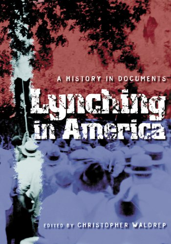 Lynching in America A History in Documents  2005 edition cover