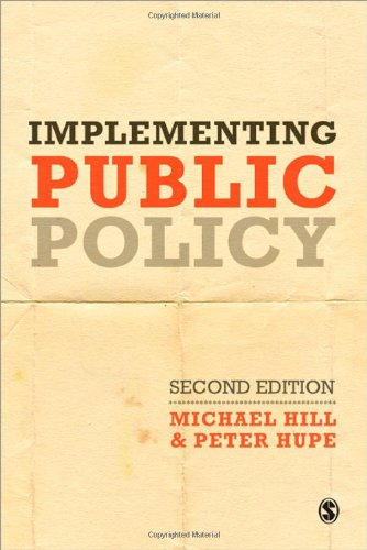Implementing Public Policy An Introduction to the Study of Operational Governance 2nd 2009 edition cover