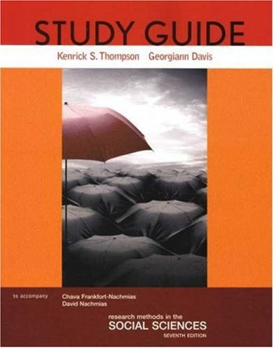 Research Methods in the Social Sciences  7th 2007 edition cover