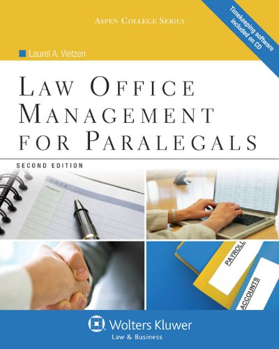 Law Office Management for Paralegals  2nd 2012 (Revised) edition cover
