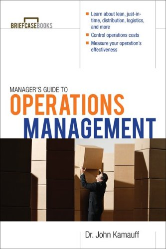 Manager's Guide to Operations Management   2010 edition cover