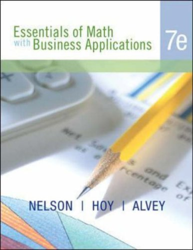 Essentials of Math with Business Applications  7th 2007 9780072985993 Front Cover