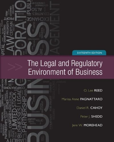 Legal and Regulatory Environment of Business  16th 2013 9780073524993 Front Cover